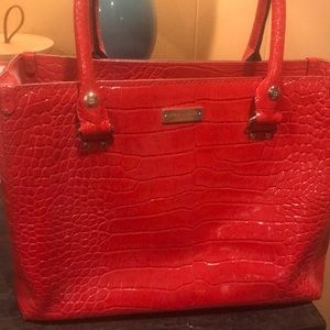 Red Snakeskin Kate Spade Bag